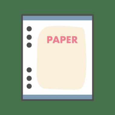 กระดาษ 6 รู