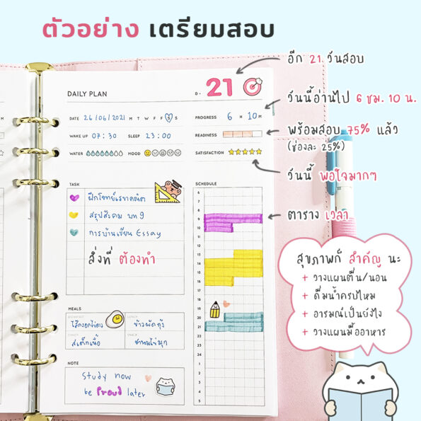 Study Planner Refill Paper 2