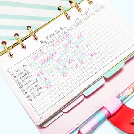 กระดาษรีฟิล My Habit Tracker