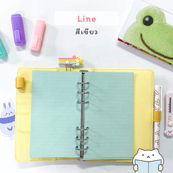 กระดาษรีฟิล Pastel – Line Green