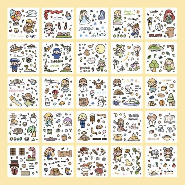 Sticker Box Set Fairy Tale6