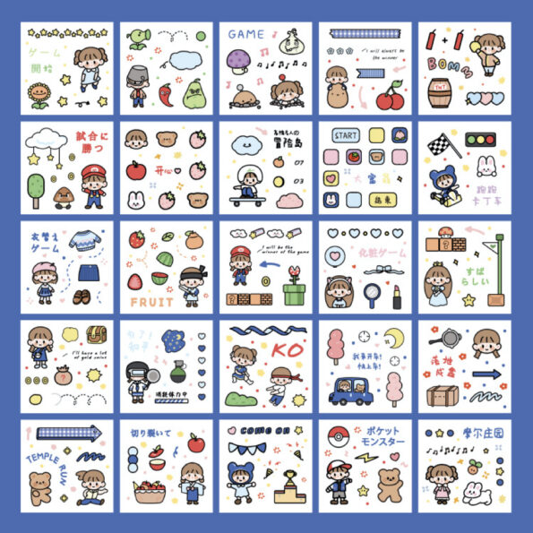 Sticker Box Set Game Time5