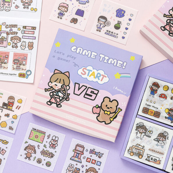 Sticker Box Set Game Time8