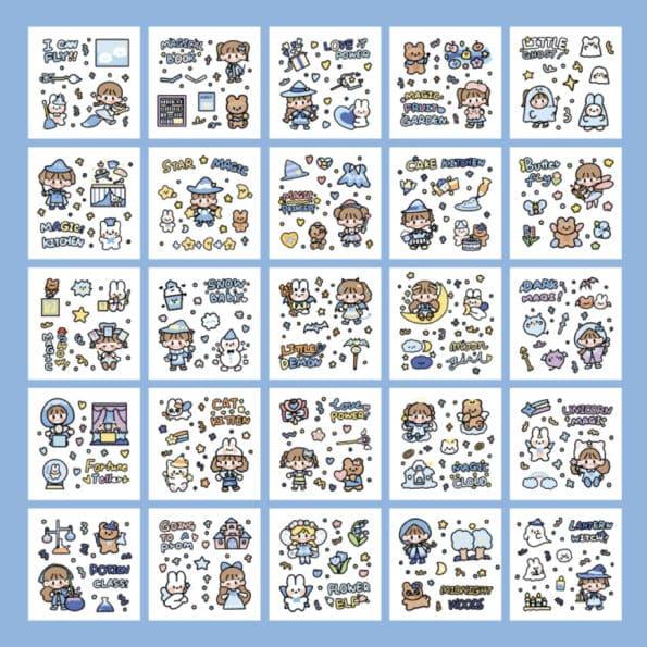 Sticker Box Set Magic World6
