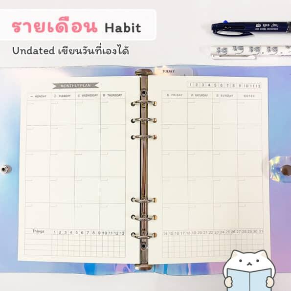 กระดาษรีฟิล Minimal – monthly h