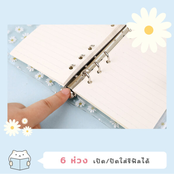 Daisy Clear Planner Cover 3