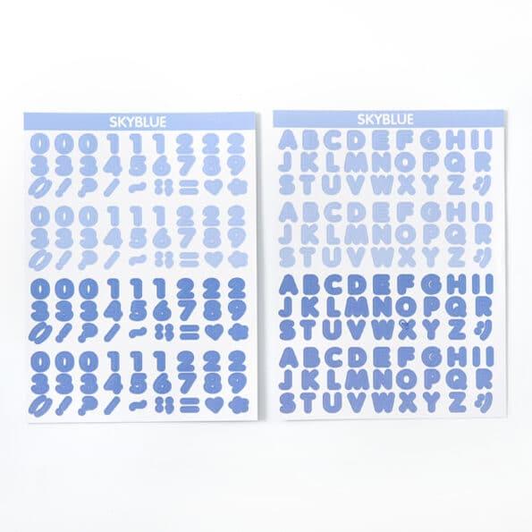 Candy Color Font Sticker A