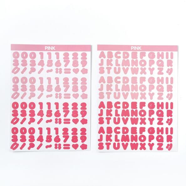 Candy Color Font Sticker E
