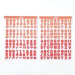สติกเกอร์ Candy Color Font