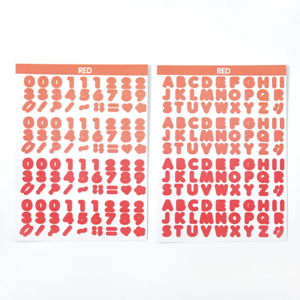 Candy Color Font Sticker F