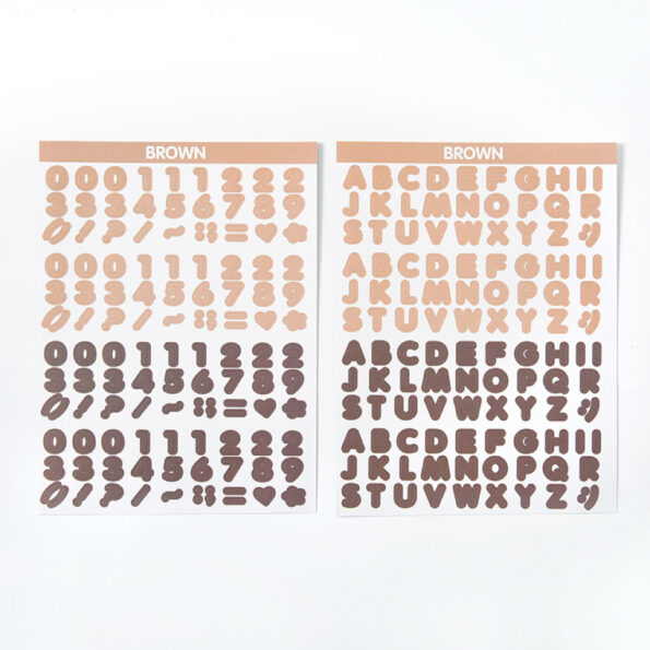 Candy Color Font Sticker G