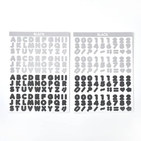Candy Color Font Sticker H