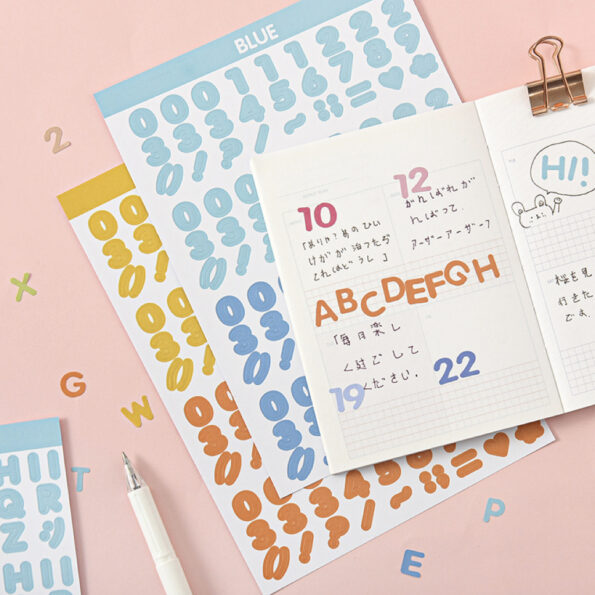Candy Color Font Sticker.004