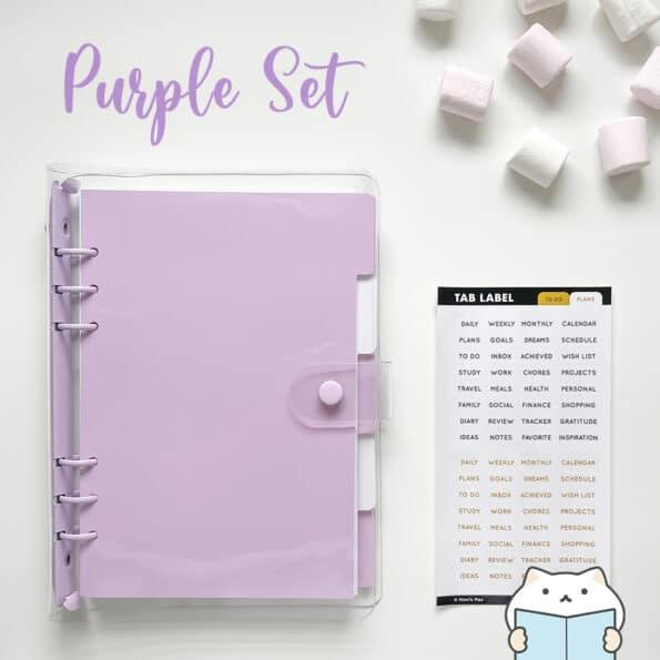 Marshmallow Planner Set 12 Purple