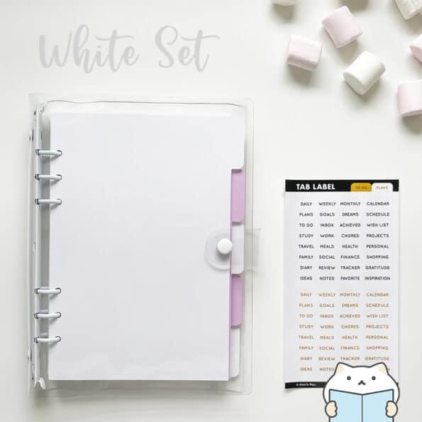 Marshmallow Planner Set 13 White